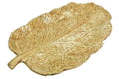 Piatto Resina Oro Foglia 40x22x4