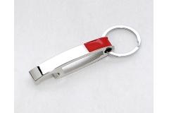 Portachiavi In Metallo Ad Apri Bottiglia Rosso/acciaio