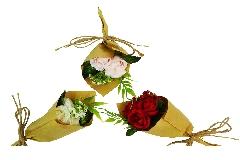 Bouquet Roselline Carta Kraft Pz 1