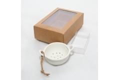 Scolapasta Bianco Con Scatola E Porta Confetti