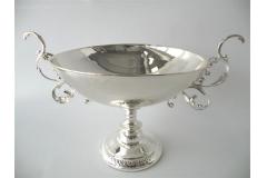 Coppa Elegant In Metallo Silver 40x25x27 Cm