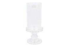Candeliere Vetro C/ Parafiamma Stretto 1