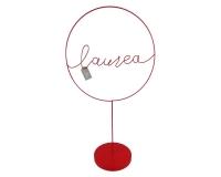 Cerchio Laurea Rosso C/ Base