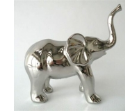 Elefante In Ceramica Silver Grande 22x9x22 Cm