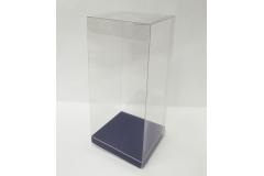 Scatola Trasparente Con Fondo Blu 8x8x18 Pz 10