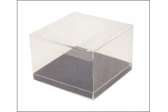 10 Scatole Trasparente Fondo 10x10x12