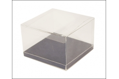 10 Scatola Trasparente Fondo 12x12x8