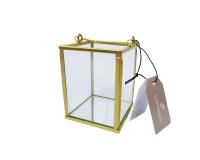 Lanterna Vetro Metallo Oro Specchio Media