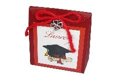 Portaconfetti Gioia Laurea Pz 12 Ciondolo Quadrifoglio
