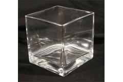Vasetto Vetro Trasp Contenitore X Confetti Cubo 12x12 Cm