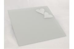 Specchio Quadro Satinato Con Cuori 35x35 Cm