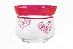 Vaso Cuore D.16 H.15 Cm Contenitore In Vetro Regalo San Valentino