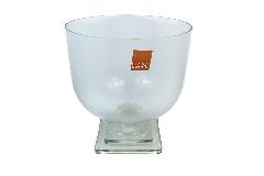 Calice Minimal 20xH.28 Cm In Vetro Con Base Trasp Decorazione Arredo