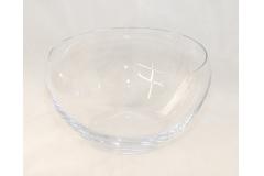 Vaso Ciotola Di Cristallo Trasparente 22x12.5 Cm