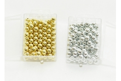 115 Perle Forate Oro O Argento Da 10 Mm