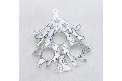 12 Decorazioni In Metallo Per Albero Di Natale
