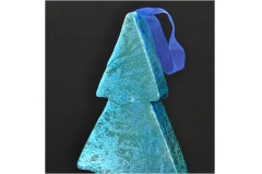 Silhouette Albero Di Natale Color Cobalto Lucido Shine 55x22 Cm