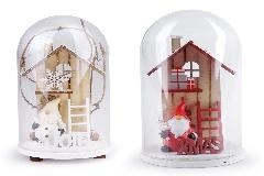 Campana Xmas Joy 7x11 Cm In Vetro Per Decorazione Addobbi Natale