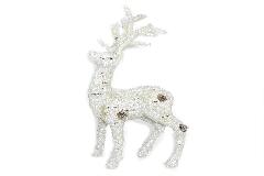 Renna Effetto Ghiaccio Piccola 15x30 Cm Decorazione Arredo Natale