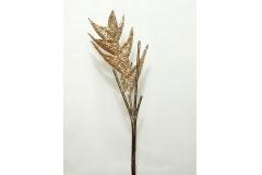 Fiore Di Heliconia Glitterata Brown/champagne Da 60 Cm