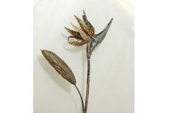 Fiore Del Paradiso Sterlizia Glitterata Brown/silver Da 85 Cm