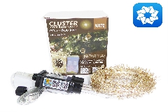 Luci Natale Cluster Mt 20 Bluetooth APP  600 Led Uso Interno Ed Esterno