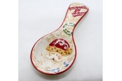 Mestolo In Ceramica Con Disegno Babbo Natale Da 22 Cm