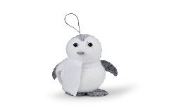 Pinguino Cm 8 Da Appendere Rivestito Soggetti Per Decorazione Natalizie
