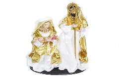 Nativita Presepe Vesti Tessuto Oro Cm 25.5 Decoro Arredo Natale